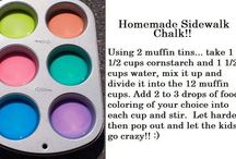 DIY Chalk / Tired of buying chalk? Here are some great ways to make your own.