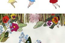 Drawing inspiration flowers
