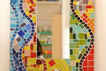 mozaik pisano ogledalo