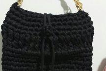 bolsas de trapilho / bolsas artesanais de crochê, malha, trapilo -super tendência