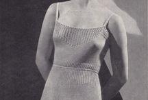 Strikking kjoler og skjørt