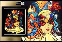 Witraże Stained Glass Tiffany / Witraż Tiffany. Rękodzieło wykonane ze szkła witrażowego tradycyjną techniką Tiffany.