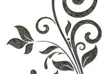 stencil arabescos