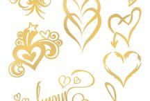 Gold Temporary Tattoos