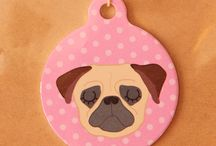 """Dog tags / Original design dog tags with """" I am chipped """" written on the back"""
