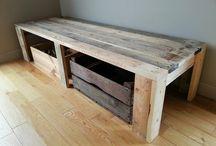 Banc - Fauteuils / Bancs ou fauteuils créés à partir de bois de palettes recyclé. Possibilité de création sur-mesure. Me contacter selon vos besoins.
