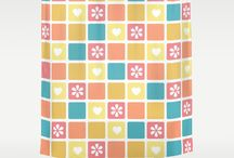 Shower Curtains / Cute custom shower curtains from Cafe Press and Society 6 to add flair and fashion to any bathroom scheme.