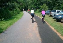 Greenville, SC Cycling / Greenville, SC has great bike trails and wonderful bike routes through the mountains.  Road cyclists, mountain bikers and leisurely bikes rides will suit all levels of cycling.