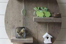Accessoires / Een steigerhouten paasei of een steigerhouten kerstboom, allemaal mogelijk. Heb je zelf een idee maar kan je het niet uitwerken? laat het ons weten!