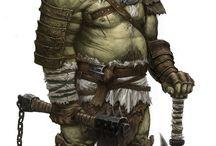 Orc, Meio Orc e Tiefling RPG