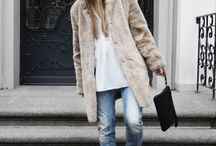 Fake fur coat outfit