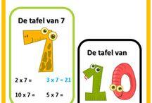 Onderwijs: gr 4 - tafels