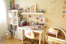 Arts and Crafts Room Dream / Ideas for a bright and cheery studio where I can create with joy.