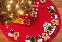 Pie de árboles navidad