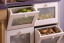 Drawers for potatoes, onions, and other veggies that should be kept separate from one another