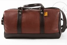 3.7.6. Overnighter Bag OLV - brown / ginger brown / Natural leather, perfect as carry on luggage. http://www.376west.com