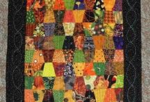 "Quilts with tumbler pattern / Квилты с шаблоном ""рюмки"""