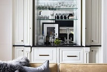 Home Bar / I need to figure out if I want a massive built in home bar or a nice little bar cart in a corner. / by Renuka Sharma