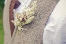 Buttonholes / Dried Flower Buttonholes for Weddings