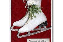 Christmas cards 8 ice skates