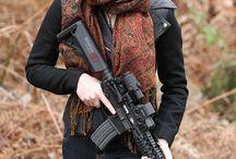 guns and woman