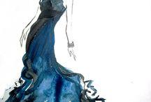 robe a l'aquarelle