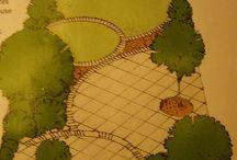 Garden Salies / long narrow garden designs and plants