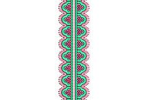 Latest Tie Embroidery Design
