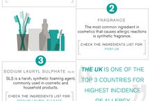 Natural Beauty Infographics / Beauty infographics specialising in acne friendly natural and organic makeup and skin care. Plus tutorials that will help take your acne clearing beauty regimen to the next level.