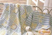mantas de bebe a crochet