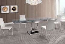 Modern Extendable Stainless Steel Dining Collection