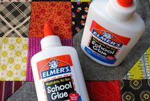 Glue and applique for quilting