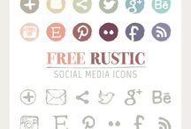 Iconen & Buttons / Inspirerende iconen en buttons voor websites. Wanneer deze er aantrekkelijk uit zien, heb je meer kans dat je bezoekers verleid worden om erop te klikken!