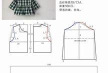 pola china baju anak