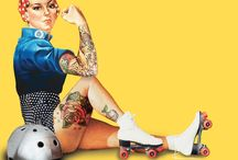 """Roller Derby: Inspiration / Art and photos that say """"hell yeah, roller derby!"""""""