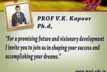 MERI Message From Prof. V.K.Kapoor