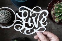lettering paper cut