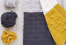 Knitted baby blankets