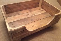 Rustic dog beds