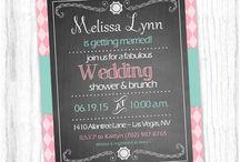 Custom Bridal / Wedding Invitations