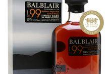 Balblair single malt scotch whisky / Balblair single malt scotch whisky