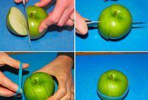 maçã  na escola
