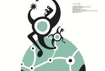 Diseño gráfico Trayectos / Graphic design Trayectos