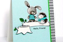 cute critter cards