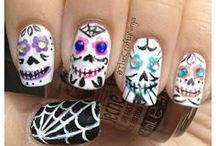 DIY Nails Art / DIY Neon Tribal Nail Art - Fereckels