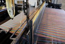 Weaving at Knockando Woolmill / Weaving is the introduction of the weft yarn, known as picks which run horizontally across the fabric.   At Knockando Woolmill weaving is carried out on our Dornier Rapier looms and Victorian Dobcross loom.  www.kwc.co.uk