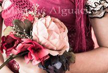 Flores naturales y de tela / Flores