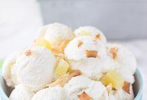 Dairy free ice-cream in ice crm machine