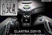 Elantra Owners Hall /2011-15 / Hyundai Elantra 2011 2012 2013 2014 2015 Car Accessories Parts Chrome Molding Unique Stylish