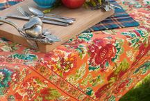 Fall 2014 Kitchen Linens / From Grateful Gatherings to the Quiet Romance of Fall, bring beautiful to your kitchen.